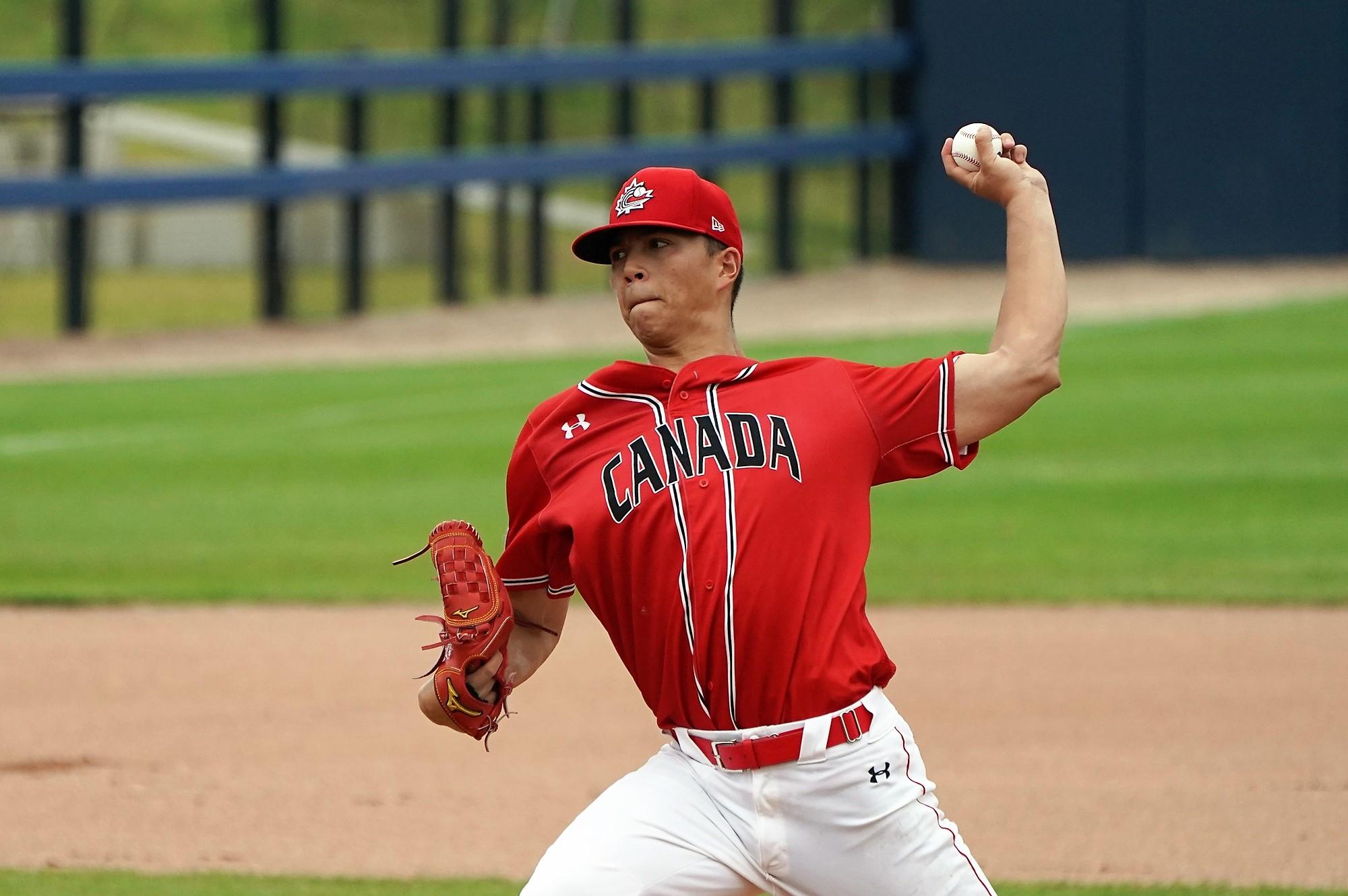 Canada's starter Justin Thorsteinson