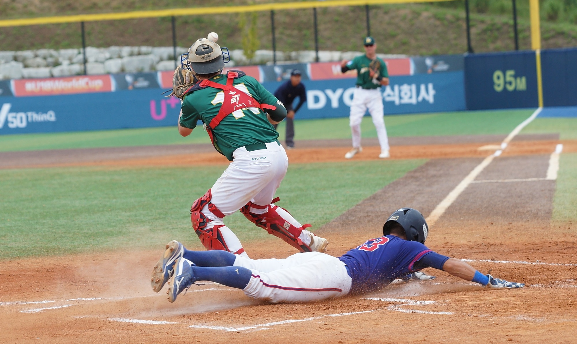 Chinese Taipei scores against Australia