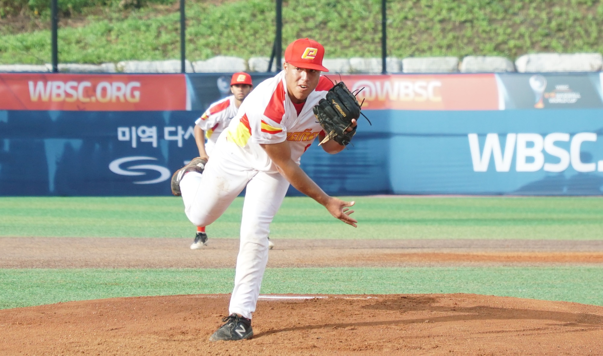 Frank Hernandez pitched five scoreless innings for Spain