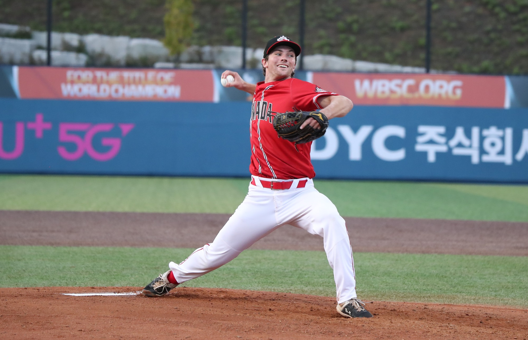 Chinese Taipei scored first against Canada's starter Adam Maier
