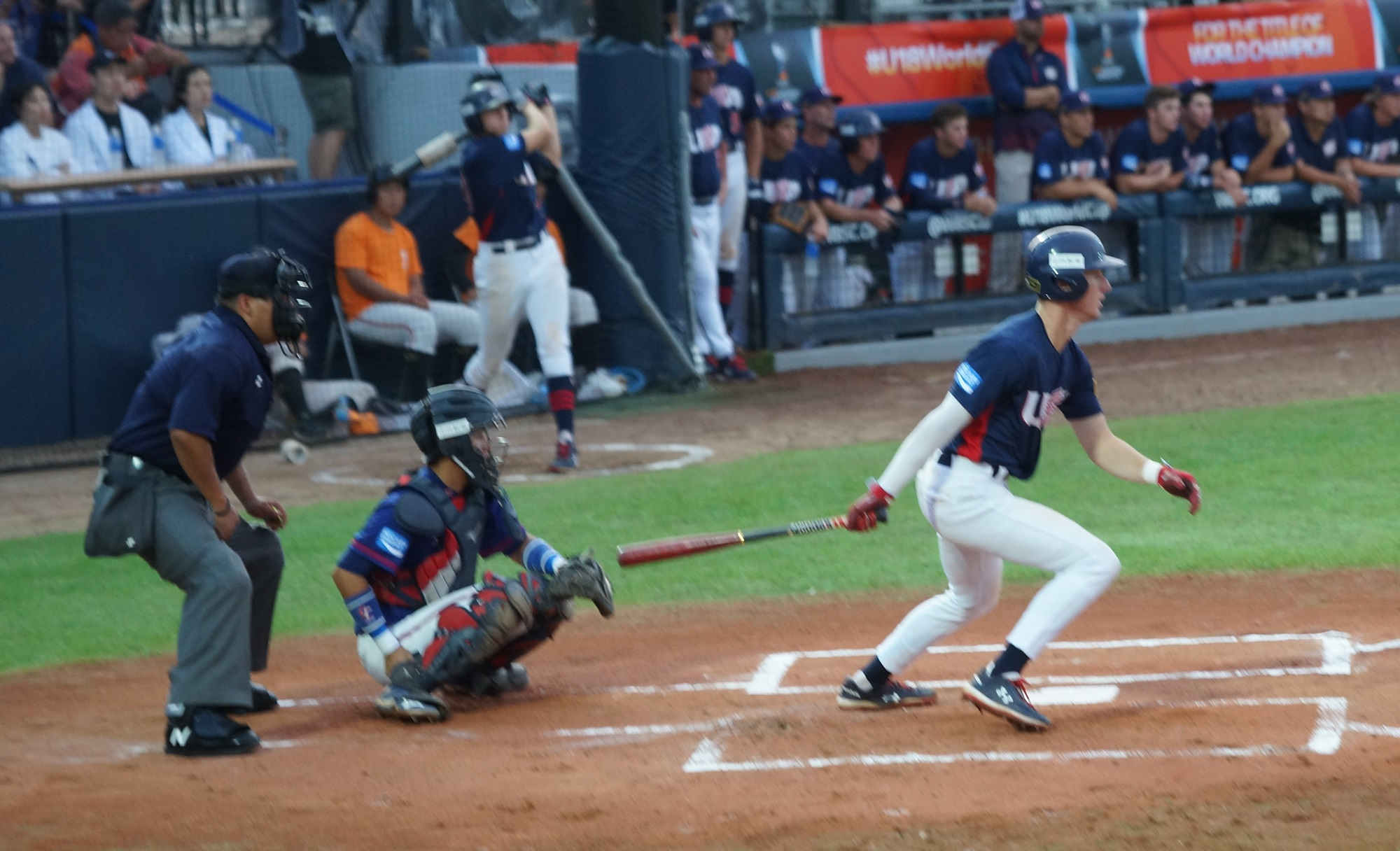 Robert Hassell had two hits and scored the only run for the USA