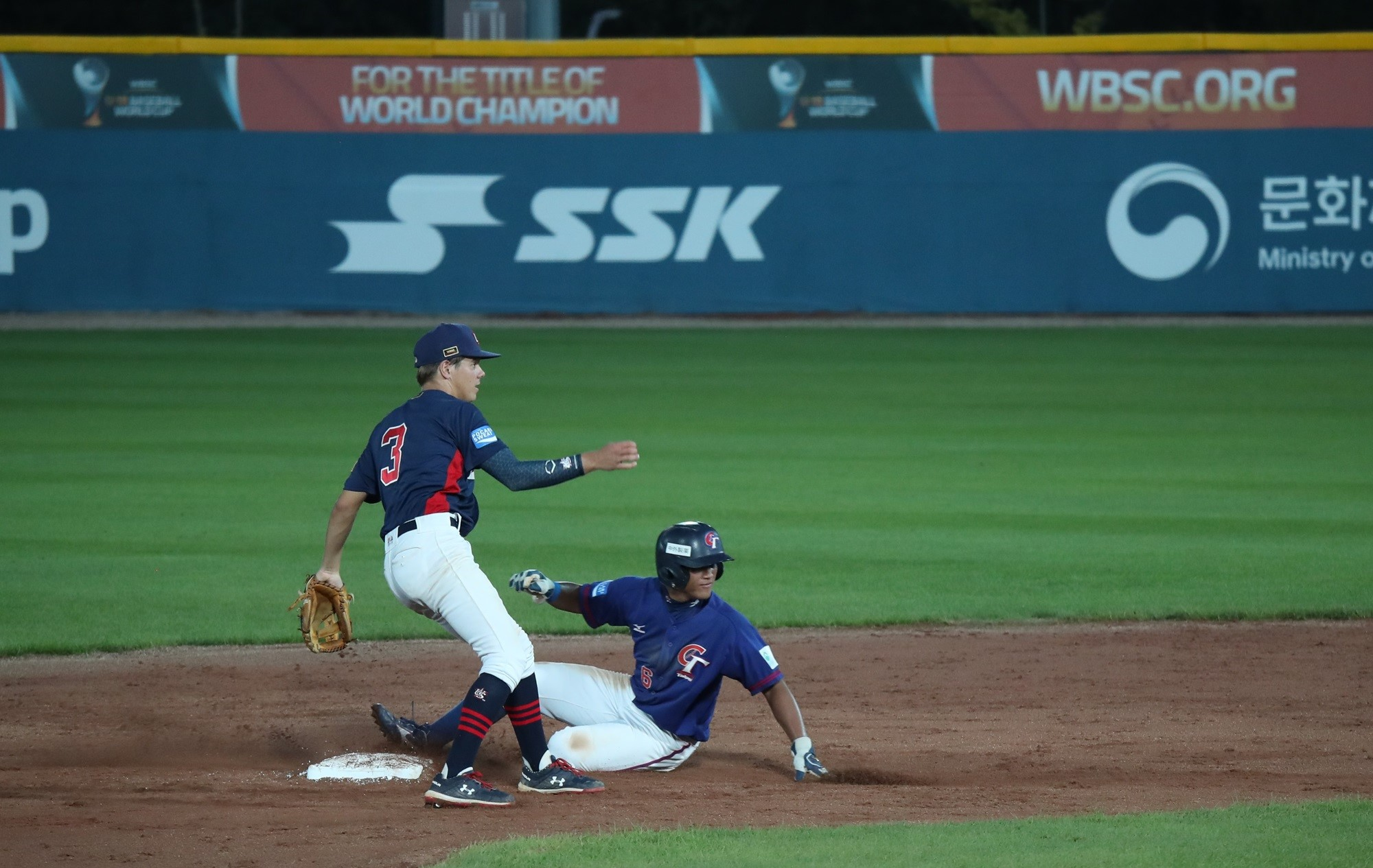 Shortstop Milan Tolentino fields second base for the USA