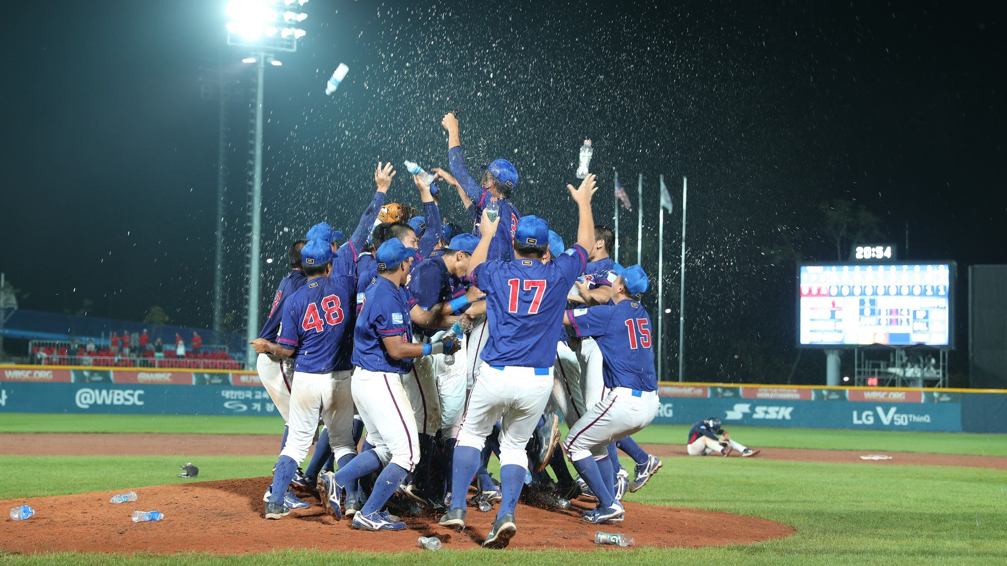 Chinese Taipei players celebrate