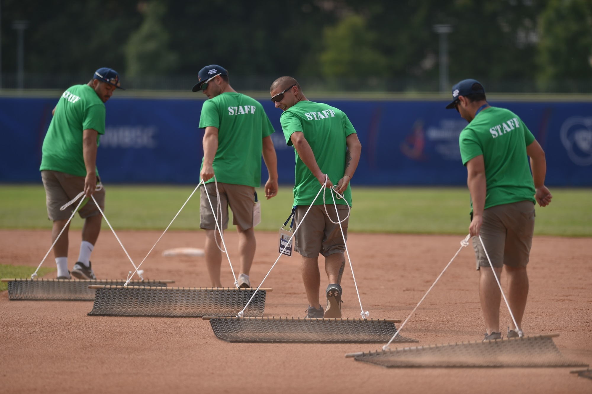 The field maintenance crew at work