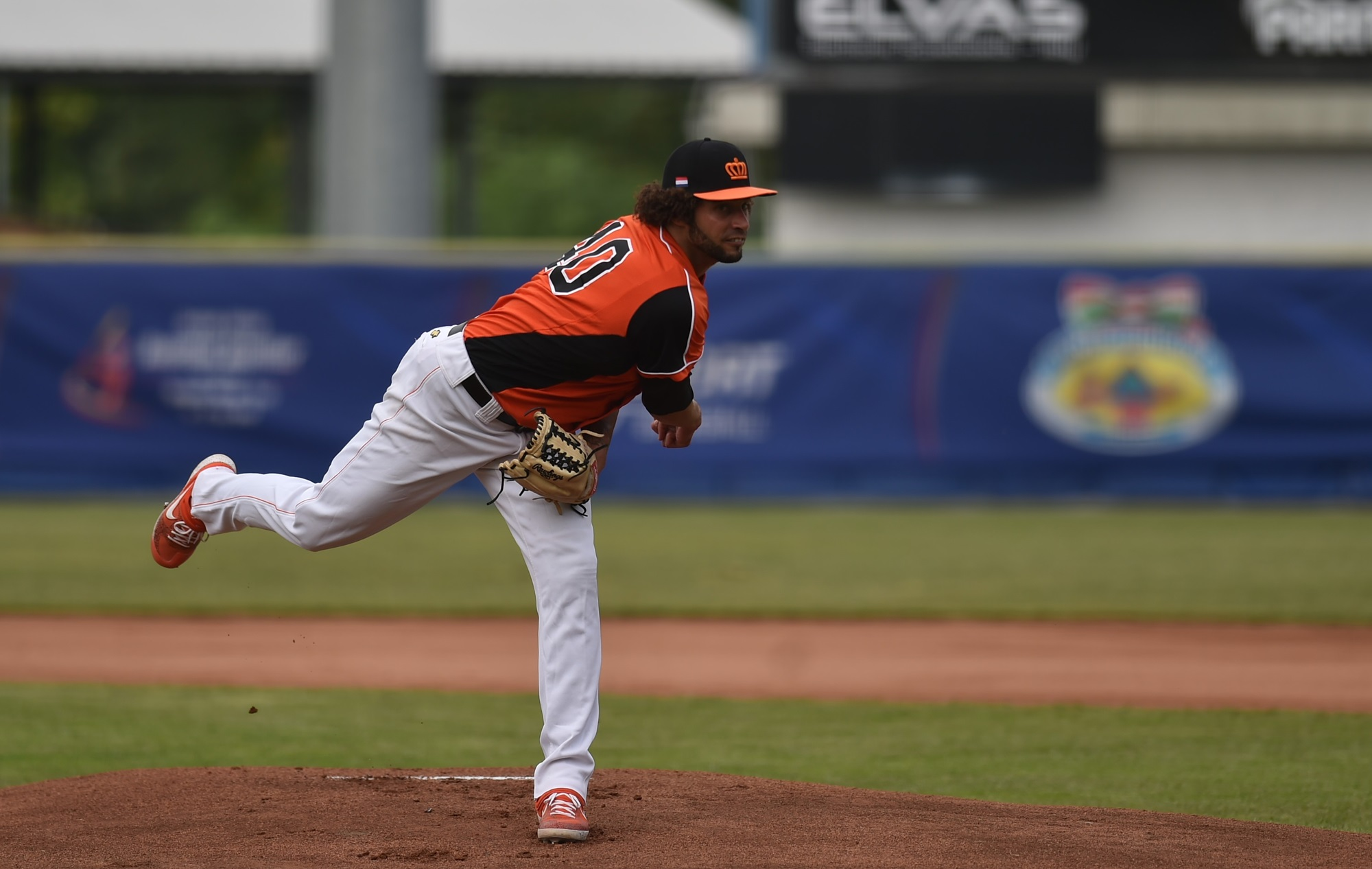 Orlando Yintema went eight innings for The Netherlands