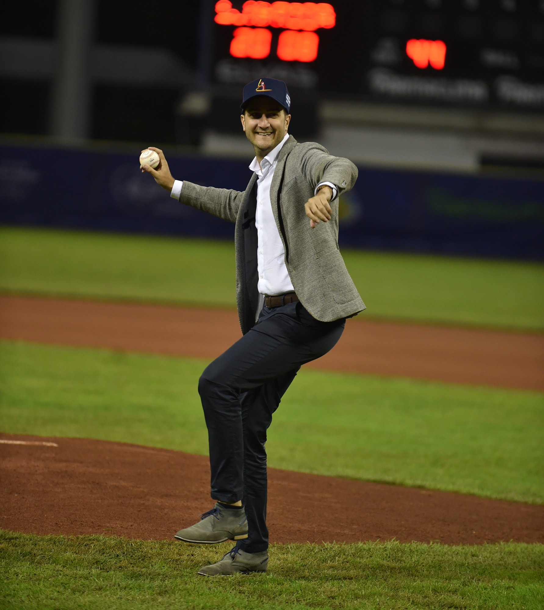 The Deputy Mayor of Parma Marco Bosi threw the ceremonial first pitch