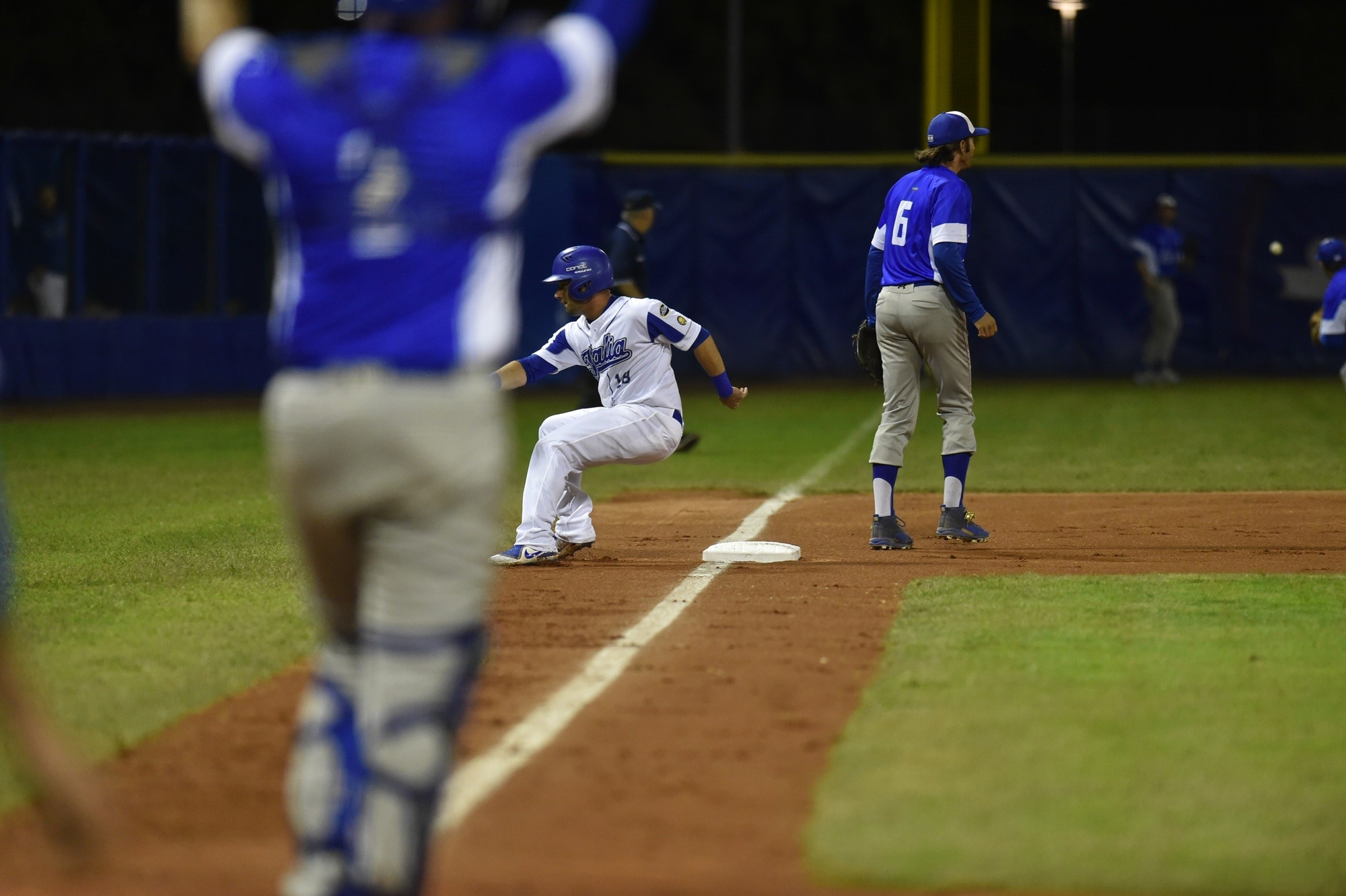 Italy stranded as many as three runners in scoring position with less than two outs early in the game