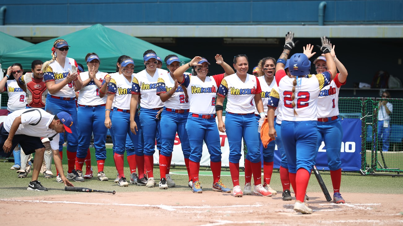 Jamee Juarez hit a solo home run by Venezuela in the top of the second inning