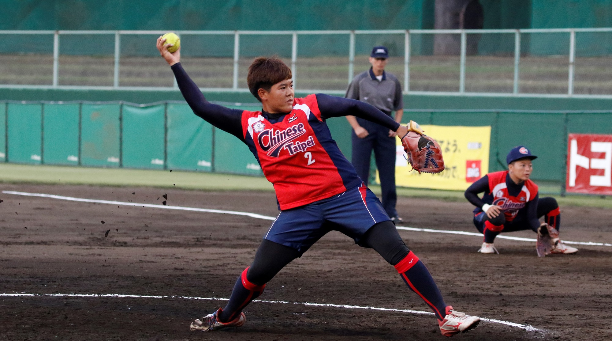 Lin Ying Hsin, the winning pitcher
