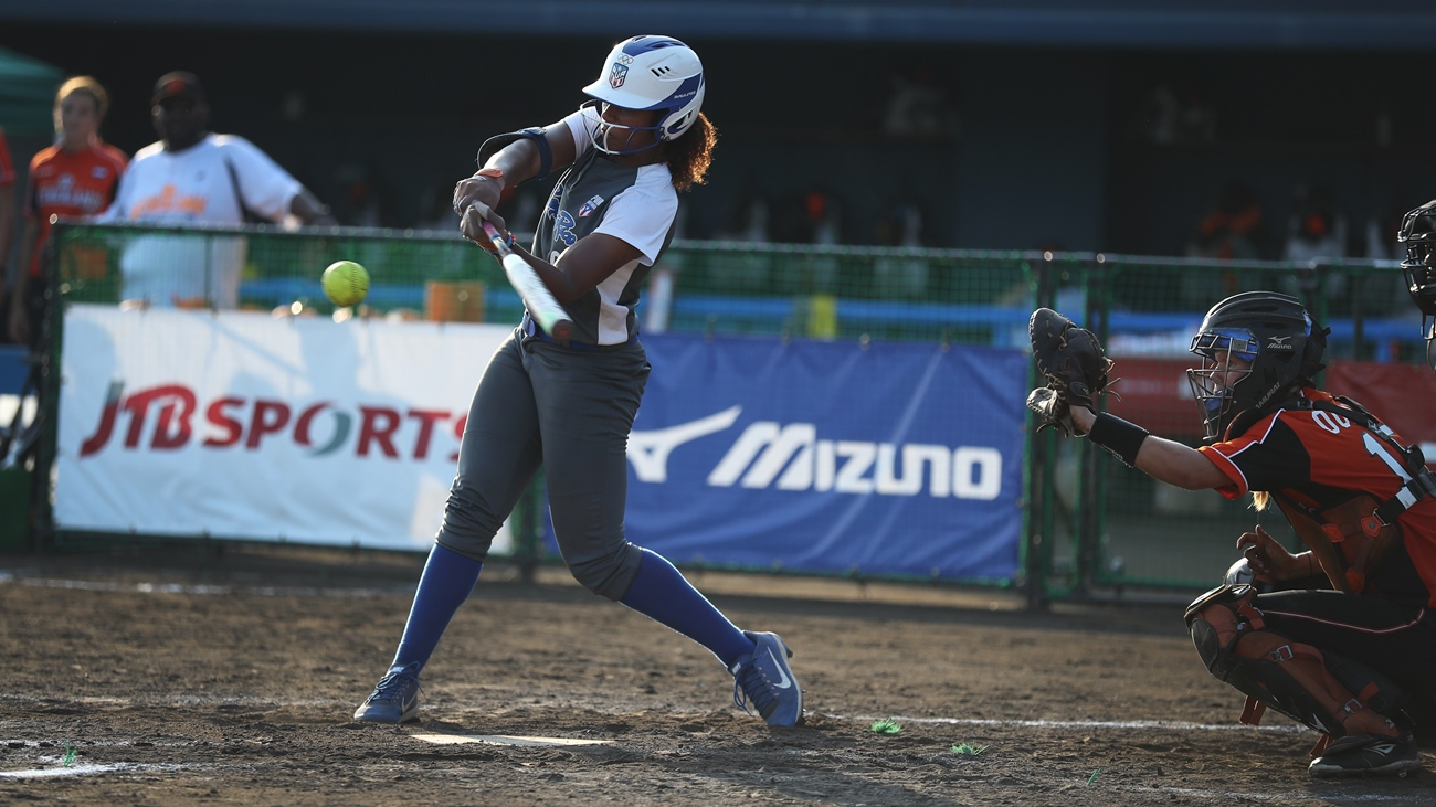 Aleshia Ocasio hit a go-ahead home run in the bottom of the sixth inning