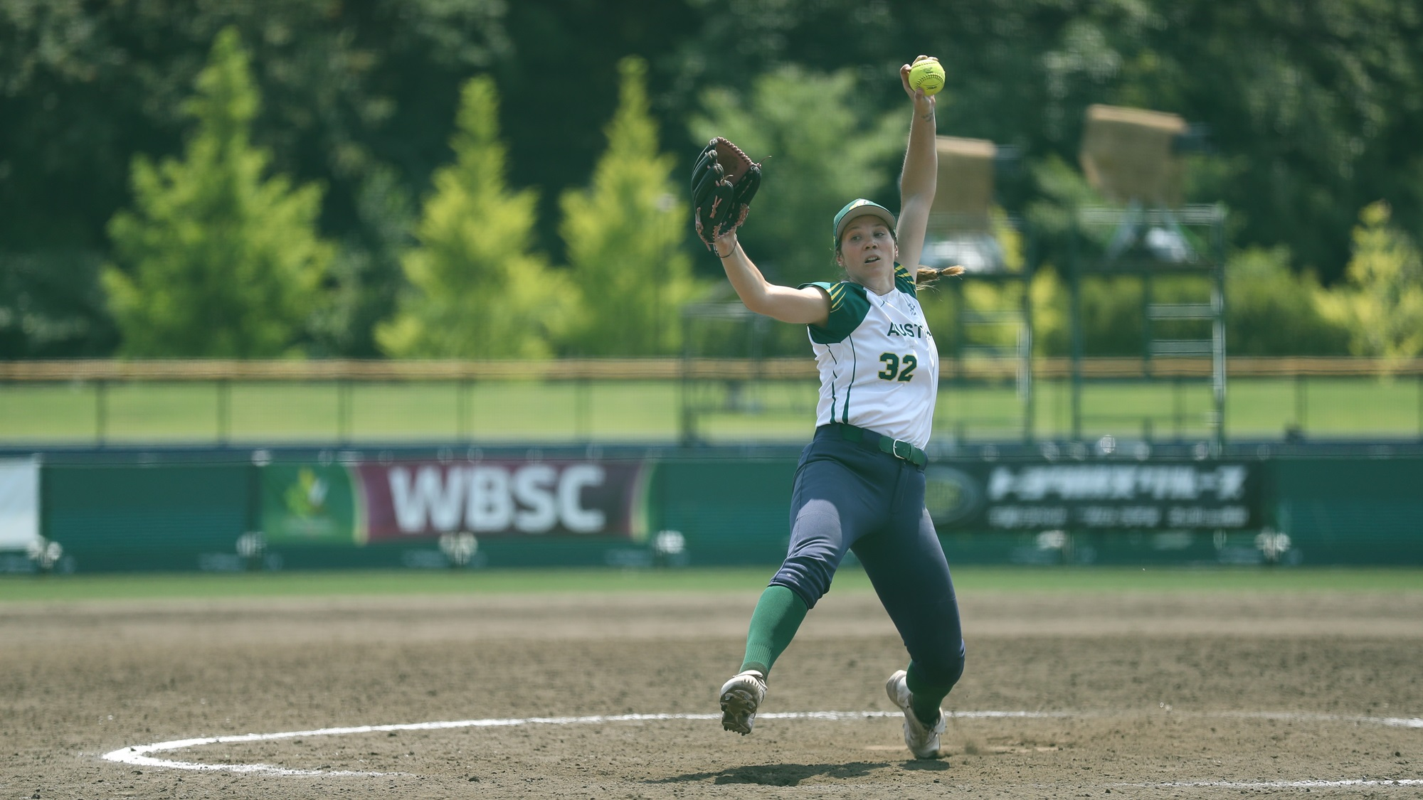Kaia Parnaby pitched 5 innings and earned the win for Australia