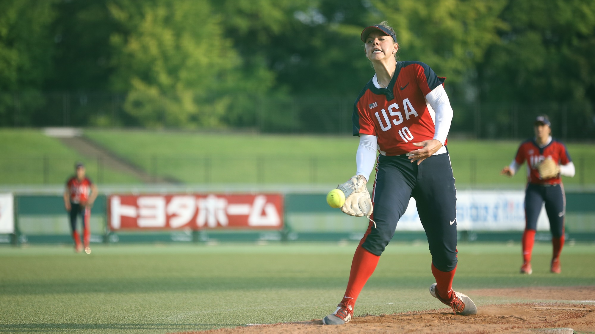 Keilani Riketts pitched a five-inning shutout and took the win over Chinese Taipei
