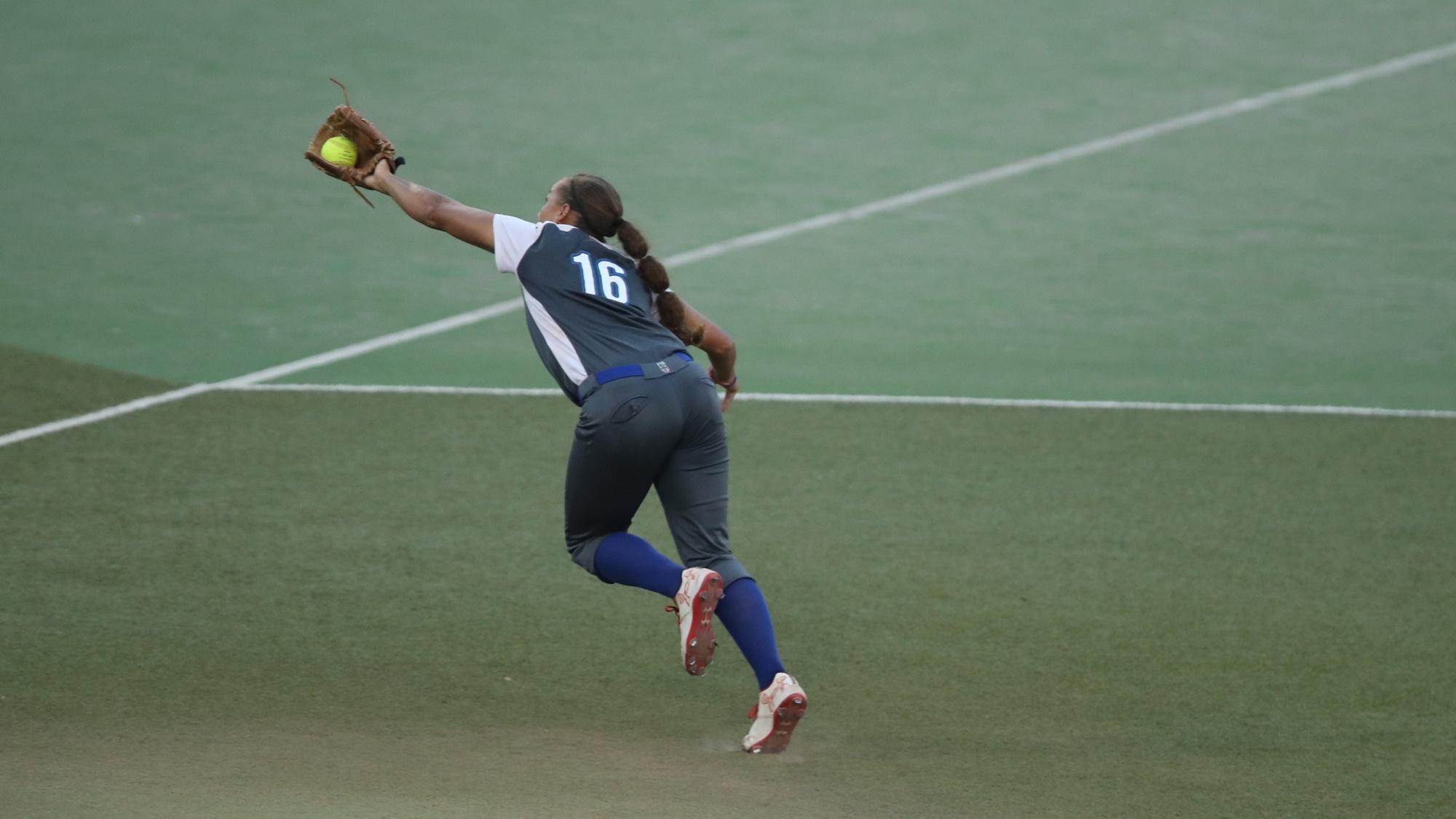 Quiana Diaz Makes a good running catch against Philippines