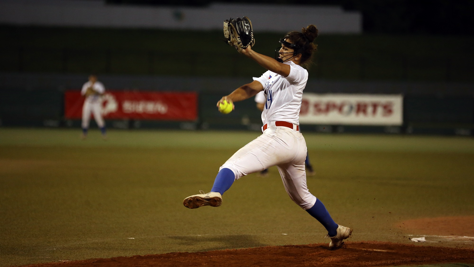 Sierra Lange pitched on inning and received two runs