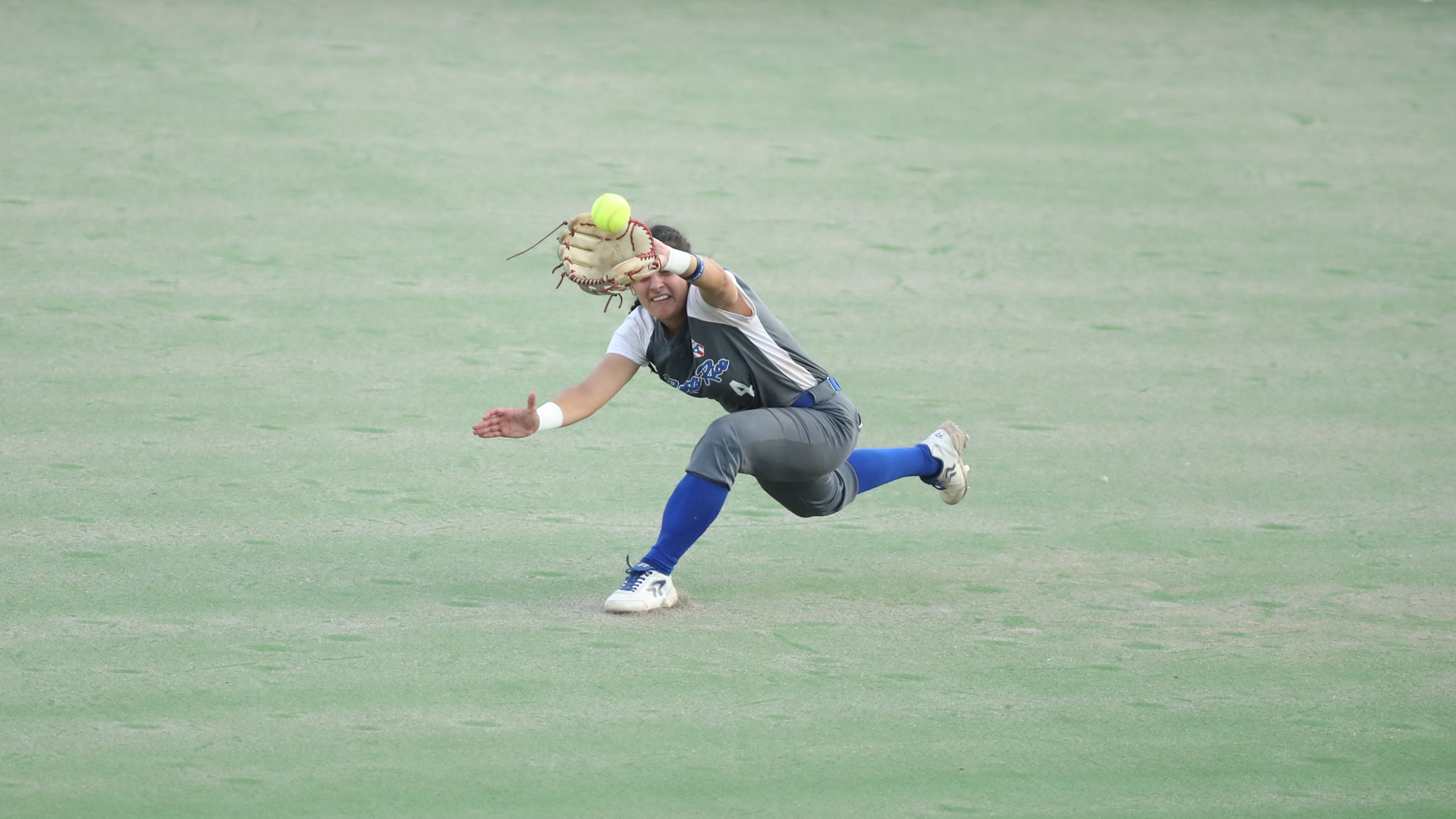 Elicia D'Orazio makes a great catch to keep alive the no-no