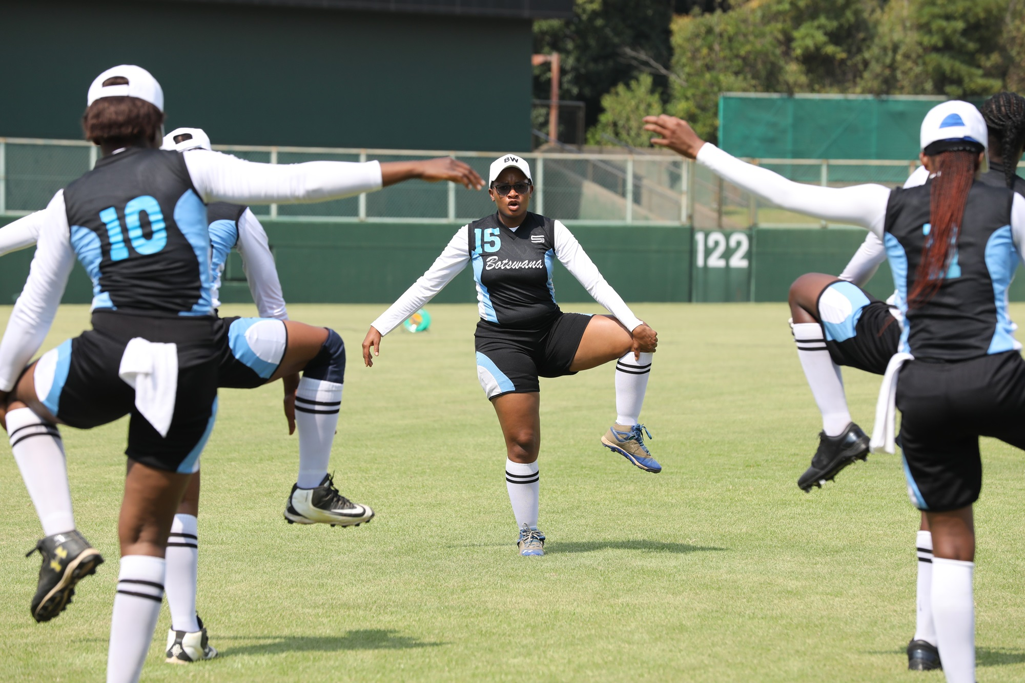 Botswana warming up: it really looks like a dance