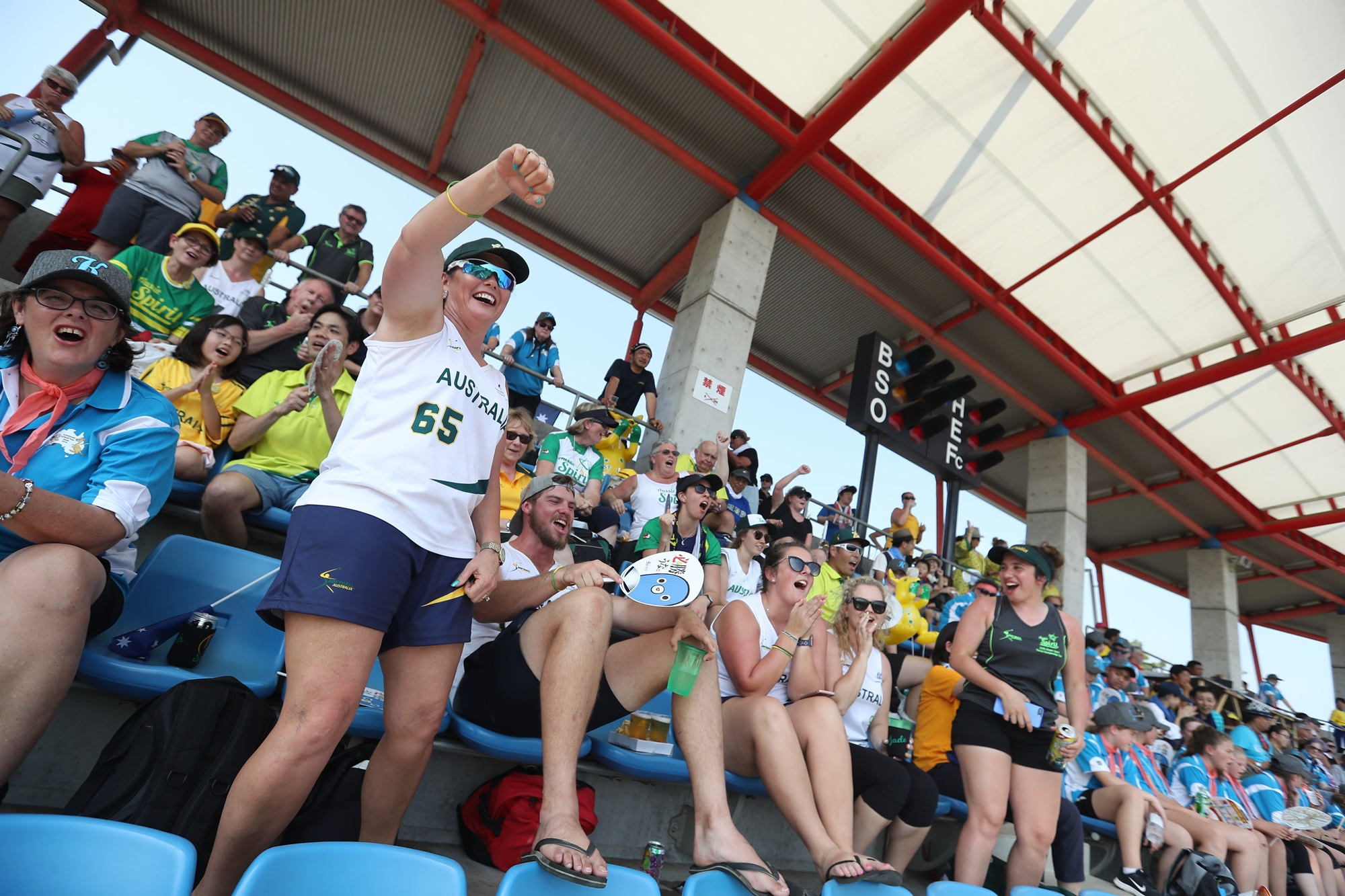 Australia's cheer leading?