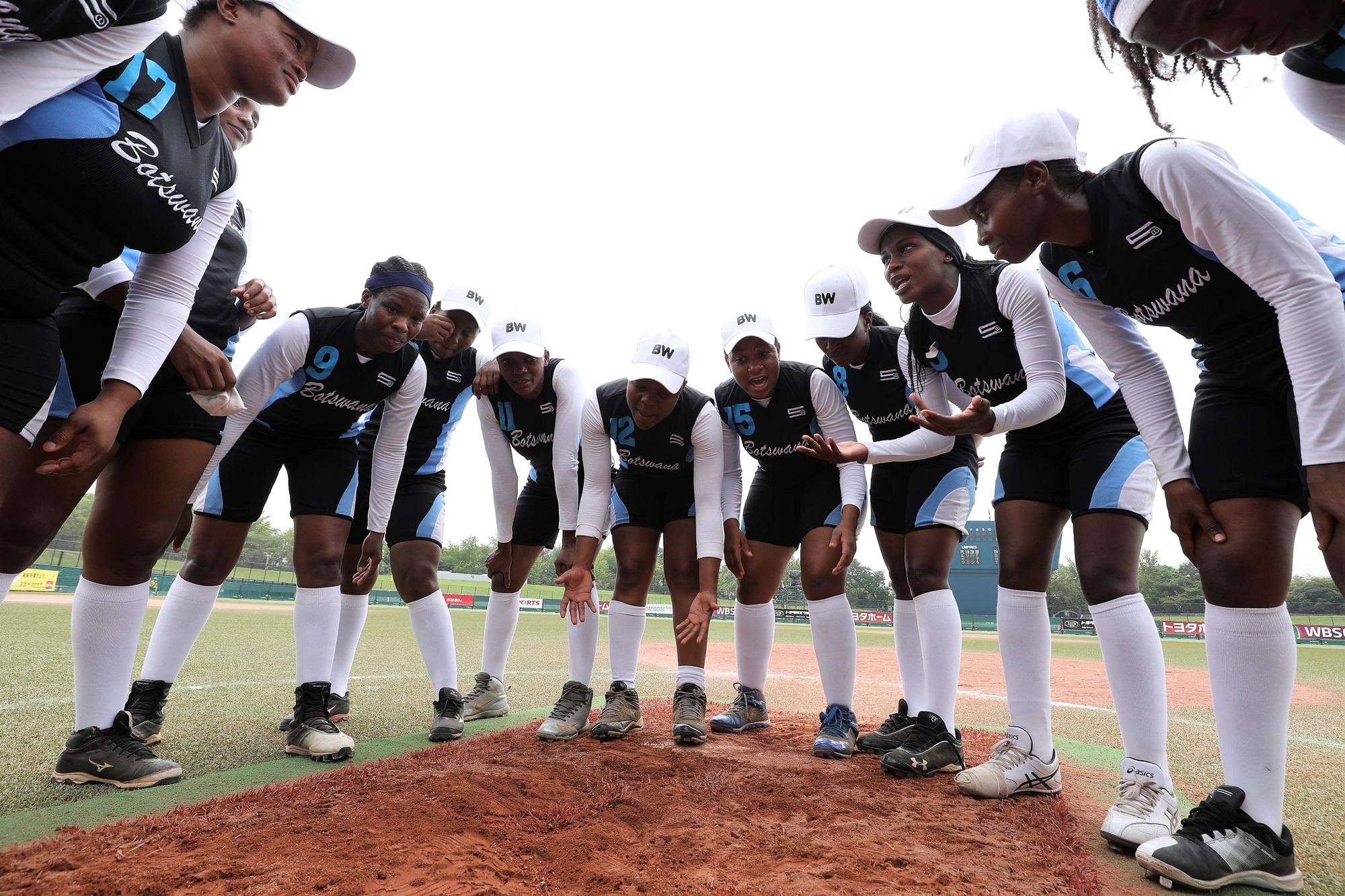 Botswana's pre game ceremonial