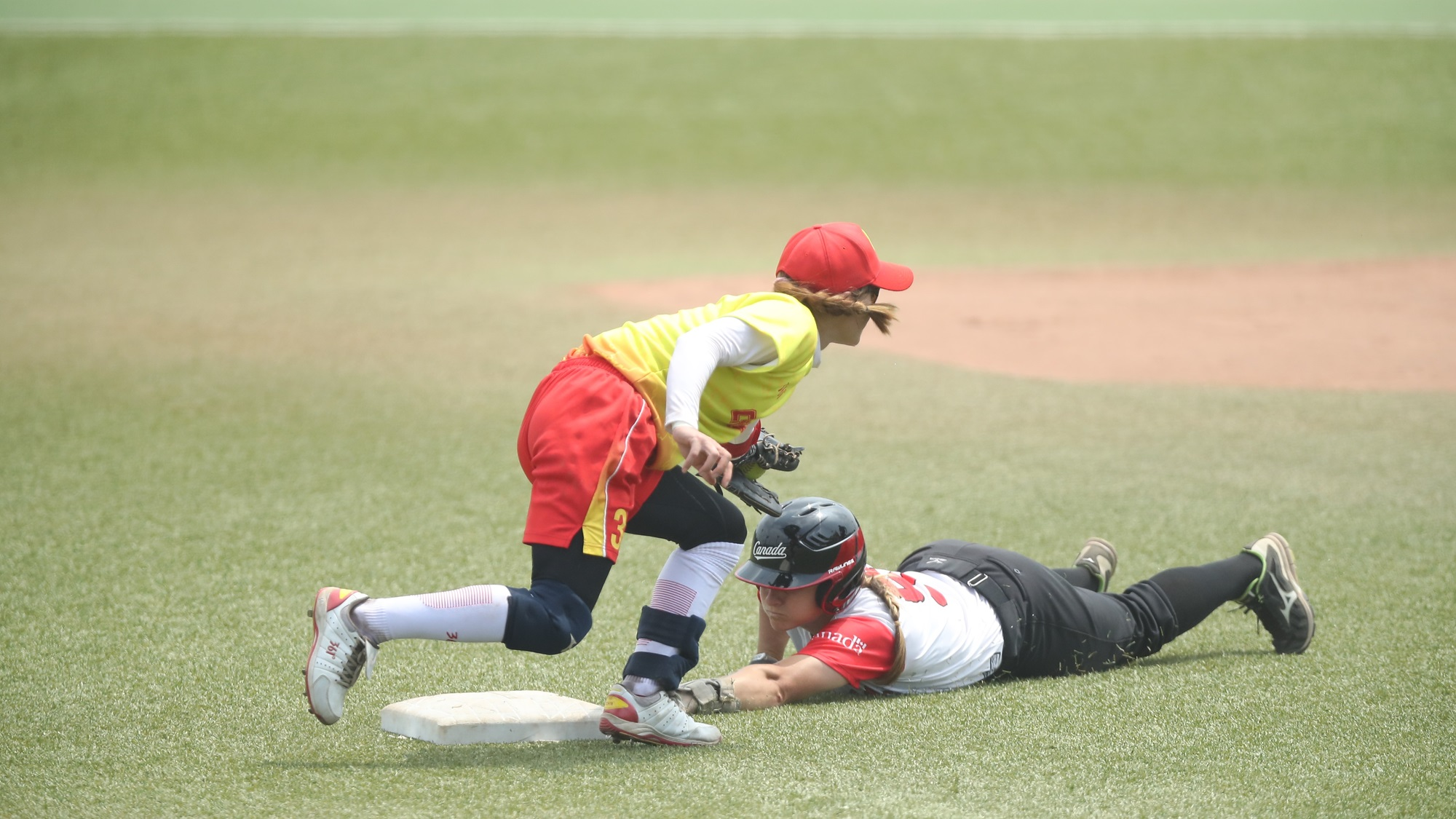 Canada sliding safe into second