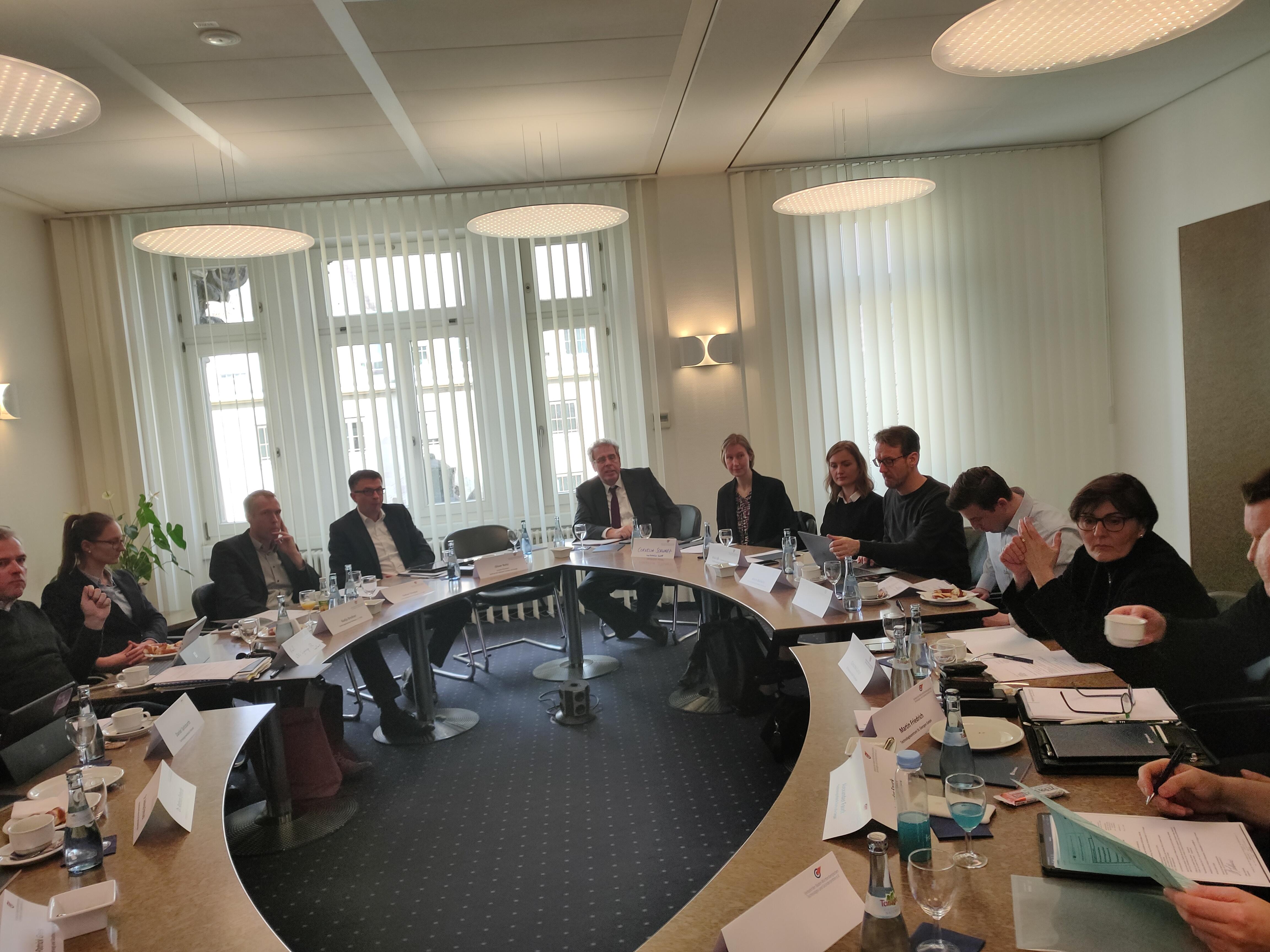 Sitzung im Haus der Wirtschaft, Steinbeis-Stiftung
