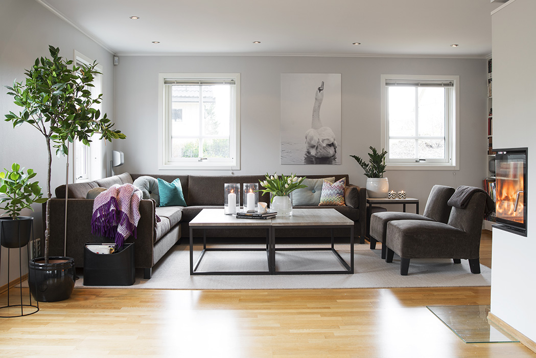stue, sofa, innredning, interiør