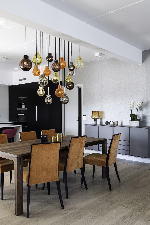 spisestue, lamper, interiør, hjem