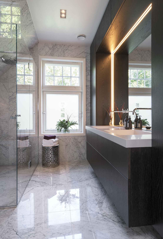 interiør, interiørarkitektur, ramsoskar, ramsøskar, bad, baderom, marmor, marmorfliser, marmor fliser