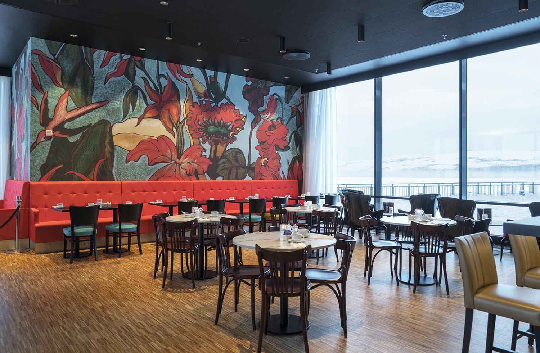 restaurant, hotell, lobby