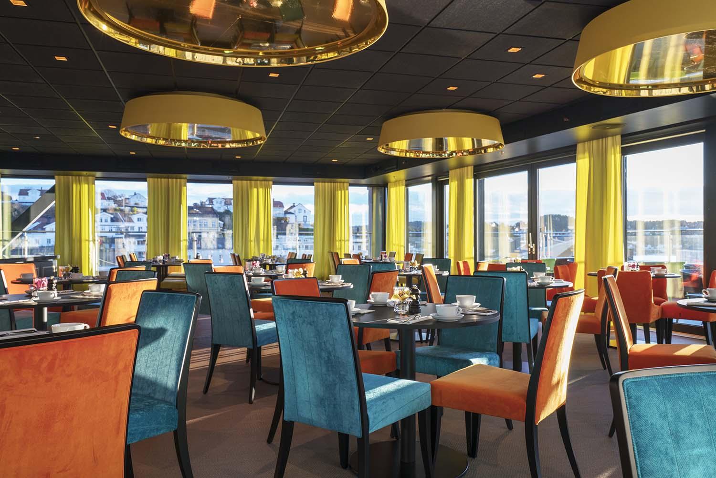 restaurant, spisebord, hotell