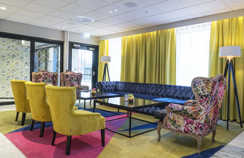 sittegruppe, sofa, hotell, Arendal