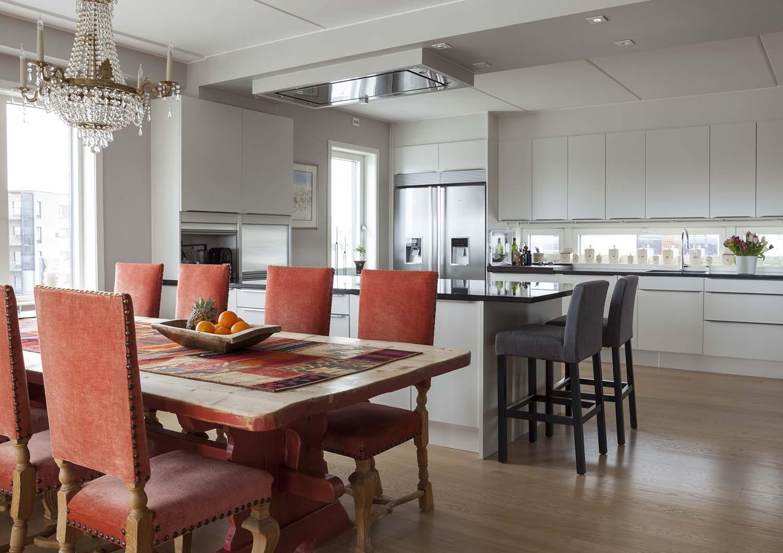 kjøkken, spisestue, interiør