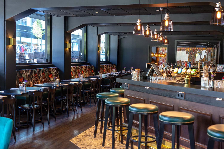 restaurant, bar, hotell, interiør