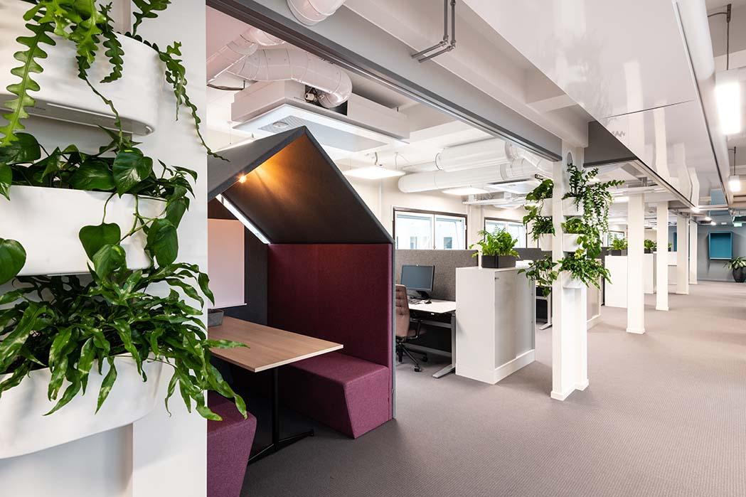 kontor, kontorlandskap, interiør, ramsoskar