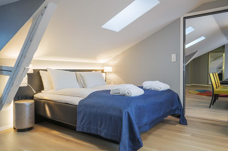 hotellrom, seng, interiør, hotell