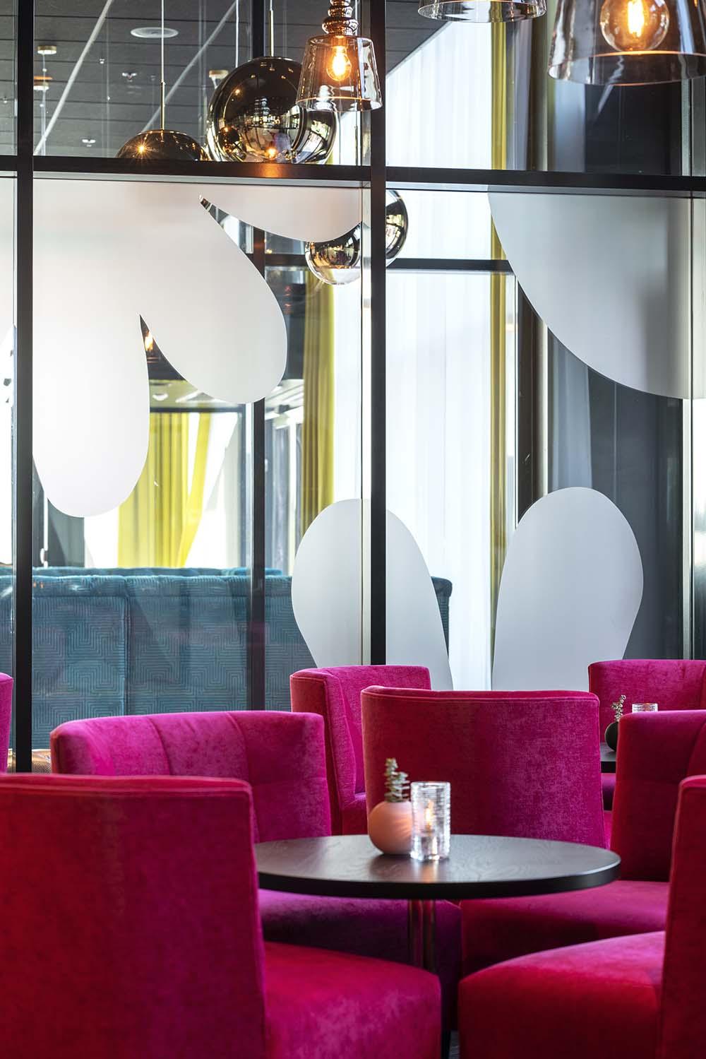 konferansehotell, stoler, lounge, sittegruppe, lys
