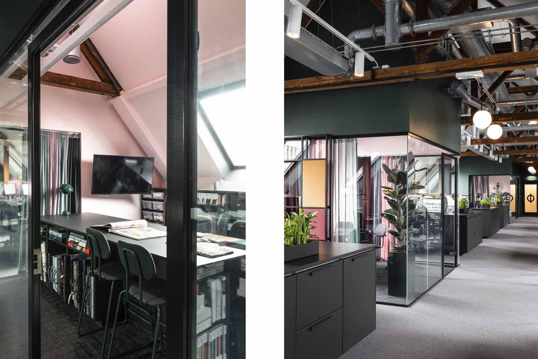 kontor, interiørarkitektur, interiør, kontorlandskap, åpen løsning