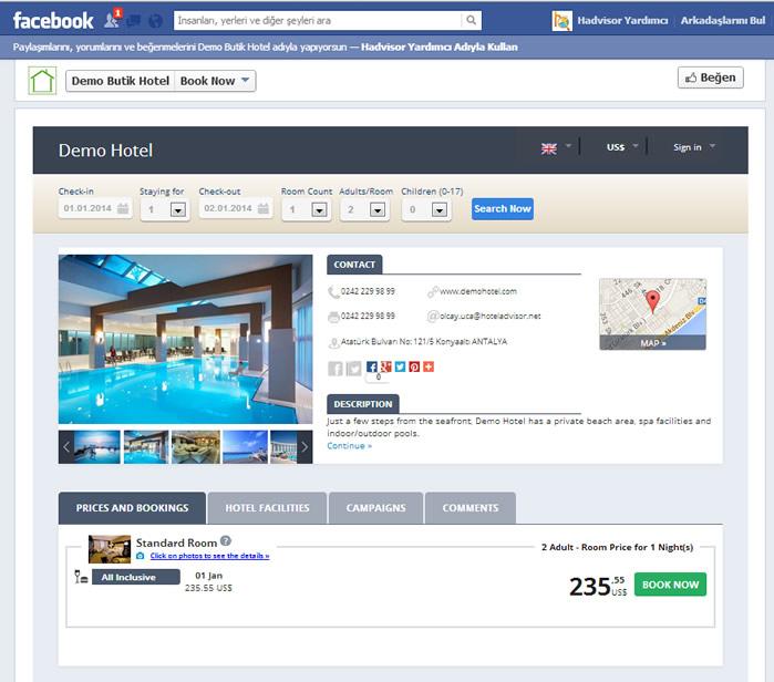 Ers Facebook Online Rezervasyon Sistemi