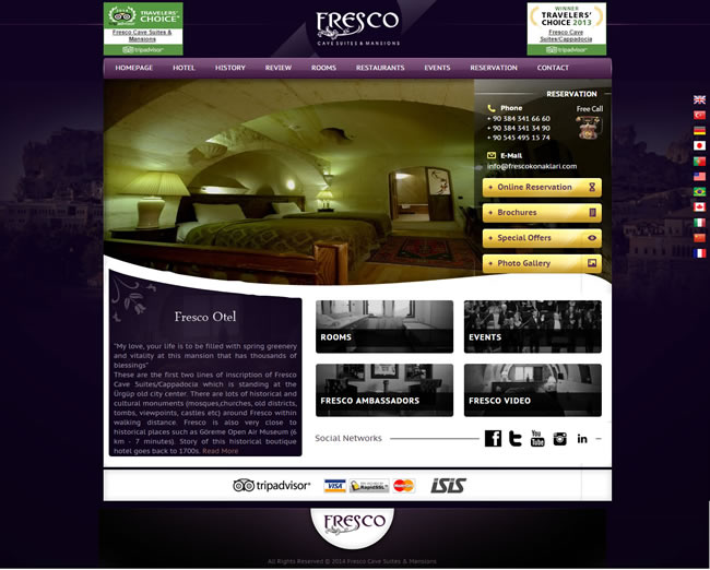 Ers Referanslarımız Fresco Cave Suites & Mansions