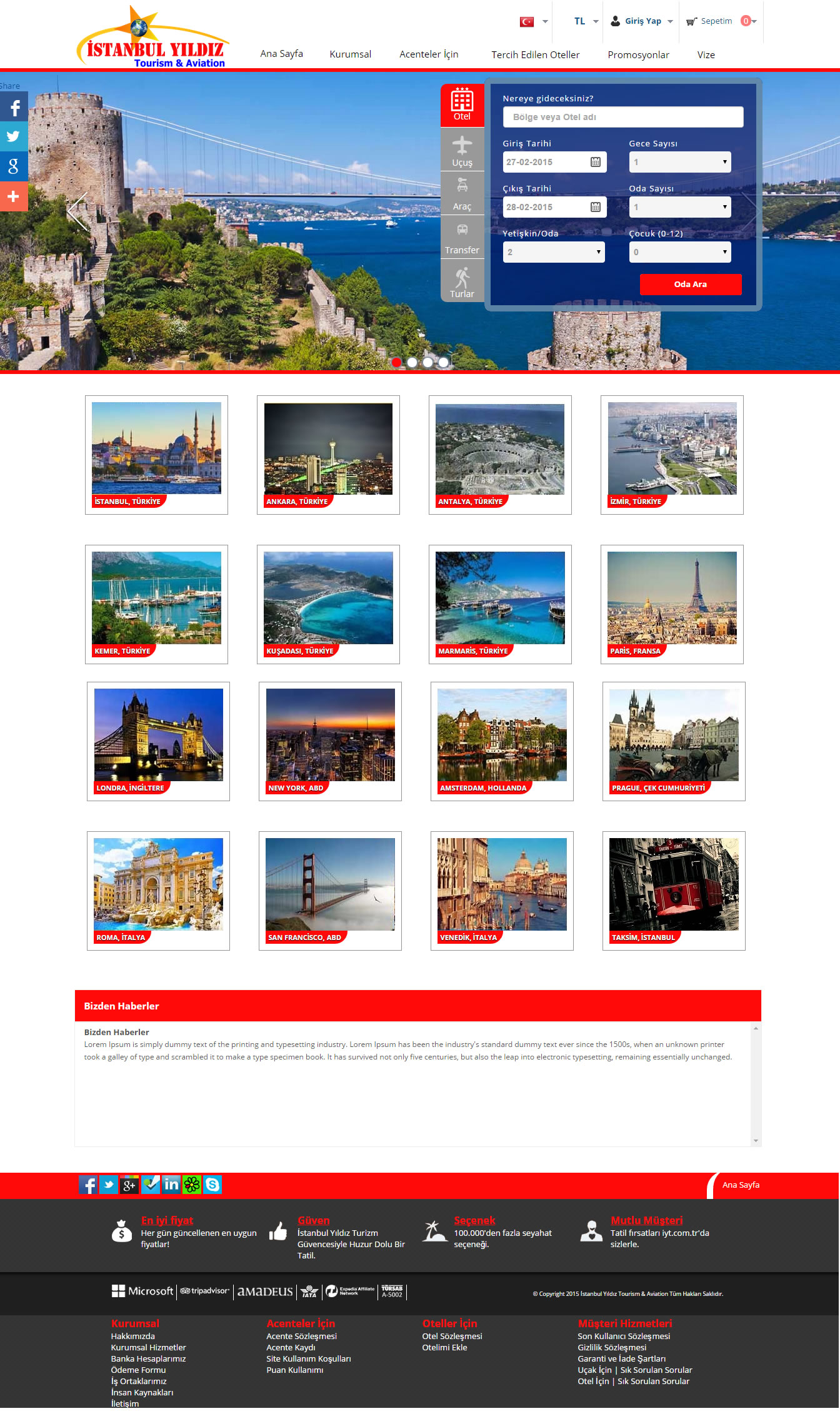 Ers Referanslarımız İstanbul Yıldız Tourism