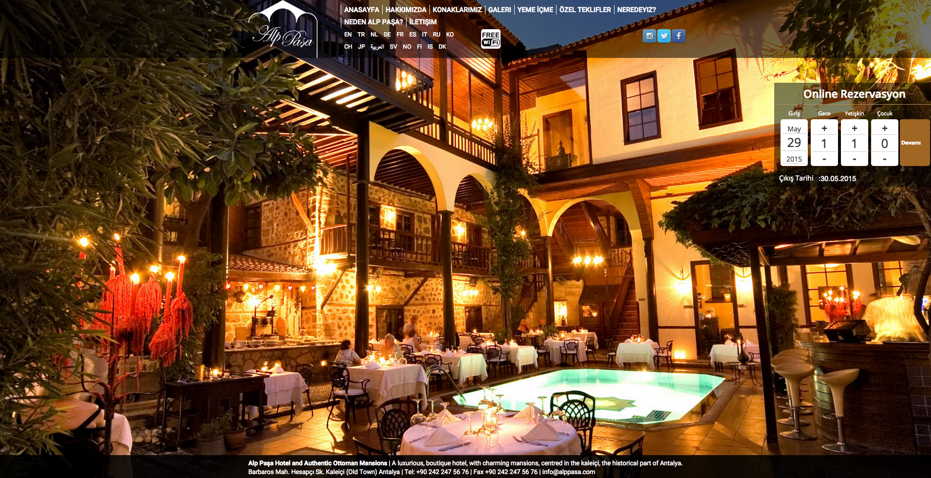 hoteladvisor.net online rezervasyon referanslarından : alp pasa otel