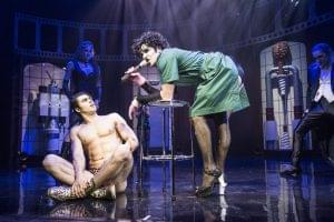Dominic Andersen as Rocky and Liame Tamne as Frank N Furter