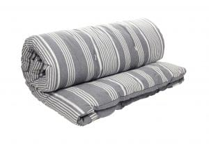 Henley outdoor mattress, £150, scatter cushions also available £35, from The White Company
