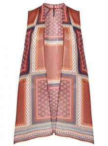 Sleeveless patchwork print kimono, Evans, £30