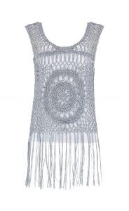White fringed knit, M&S, £35