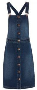 Denim pinafore dress, F&F, £20