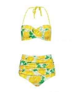 French sunflower bikini print top, £26.50, bottoms, £20 from Debenhams