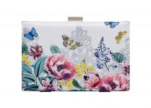 Floral box clutch, M&S, £29.50
