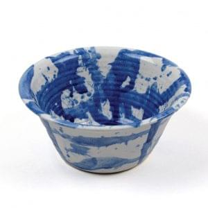 'American Splash' bowl in blue, from Black Bough in Ludlow, £12-14 Handmade by Duncan Browning in the Elan Valley, mid Wales, in two practical sizes.