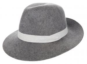 A grey fedora is essential for next season – protect your hair from the wind. M&S, £22.