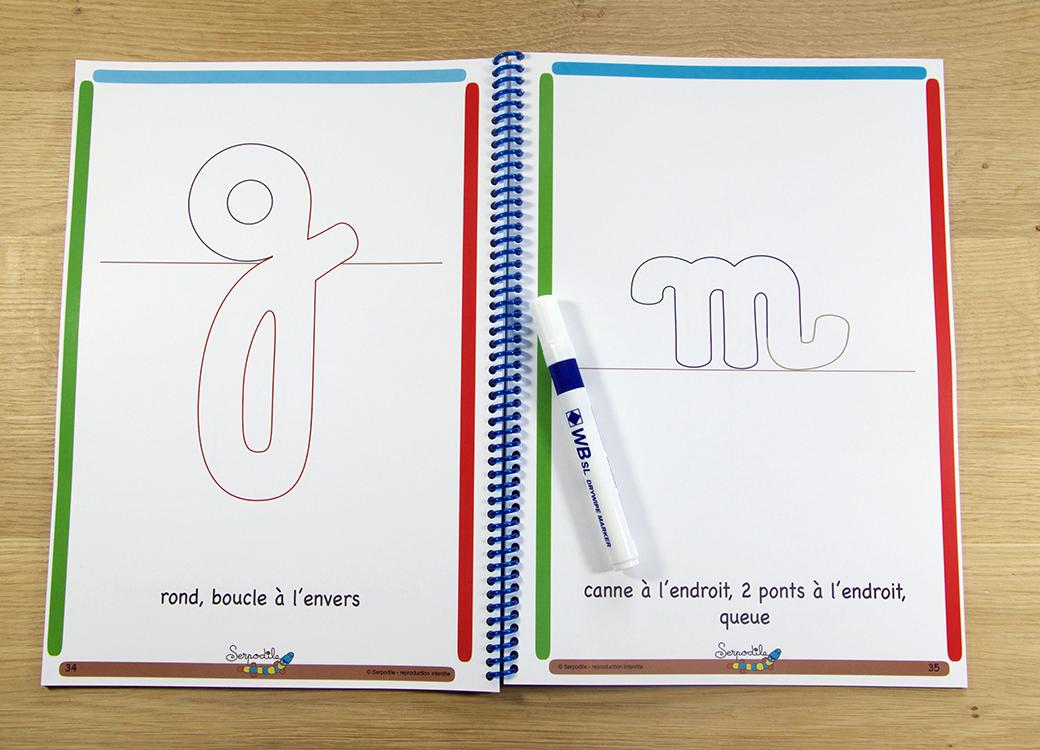 Je m'entraine à l'écriture cursive